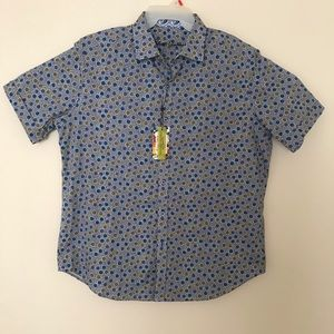 Robert Graham Men's XL Blue SS Shirt NWT